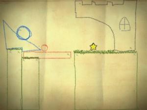 En simpel løsning i Crayon Physics.